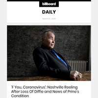 'F You, Coronavirus': Nashville Reeling After Loss of Diffie and News of Prine's Condition
