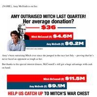Amy McGrath is THIS close to catching up with Mitch McConnell!