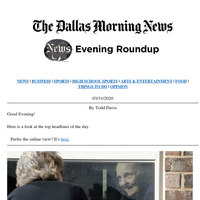 Seeing mom through a window, Uber's plans for Dallas change: Your Tuesday evening roundup