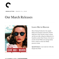 March Releases from the Criterion Collection