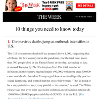 10 things you need to know today