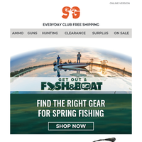200+ New Items for Spring Fishing