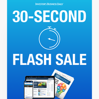 FLASH SALE: The clock is ticking on huge savings!