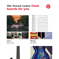 Cars, Music and 12 other boards like yours