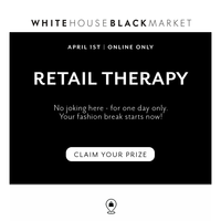 One. Day. Only. You Need Your Retail Therapy!