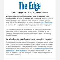 The Edge: How the Coronavirus Is Prompting Higher-Ed Grantmakers to Change Course