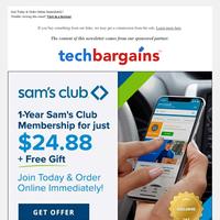 $24.88 Sam's Club 1-Year Membership + Free Gift