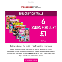 6 issues for £1 | Delivered direct to your door