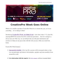 CreativePro Week Goes Online 💻