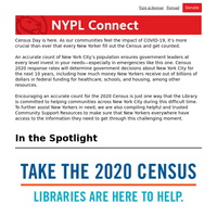 NYPL Connect: Take less than 10 minutes to help your community for the next 10 years