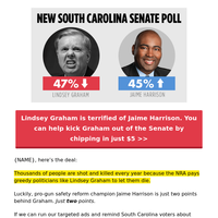 Jaime Harrison just broke Lindsey Graham's heart  💔