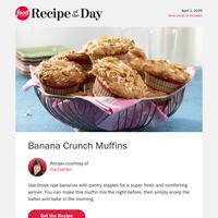 Ina's 5-Star Banana Crunch Muffins