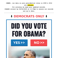{NAME} didn't vote for Obama!?