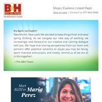 B&H Check-in 4/01: Sharing Inspiration