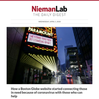 How a Boston Globe website started connecting those in need because of coronavirus with those who can help