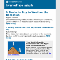 9 Stocks to Buy to Weather the Recession