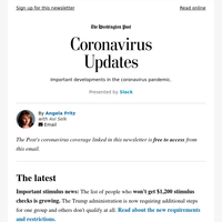 Coronavirus Updates: The list of who won't get a stimulus check is growing