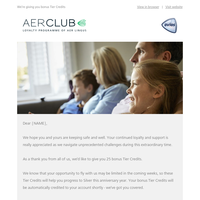 AerClub update and our latest travel information