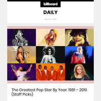 The Greatest Pop Star By Year: 1981 - 2019 (Staff Picks)