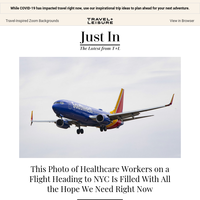 This Photo of Healthcare Workers on a Flight Heading to NYC Gives Us Hope