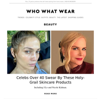 Celebs over 40 swear by these holy-grail skincare products