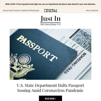 US State Department Has Halted Issuing Passports Amid COVID-19