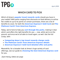 ✈ Credit Card Showdown: Amex Platinum vs. Amex Gold & More Daily News From TPG ✈