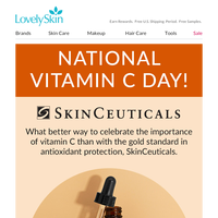 Celebrate National Vitamin C Day with SkinCeuticals C E Ferulic Gift & Double Rewards!