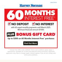 Home Hygiene Essentials + Bonus^ Gift Card with 60 Months Interest Free^