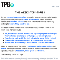 ✈ Southwest's Devaluation Scare, Reduced Credit Card Fees & More Daily News From TPG ✈