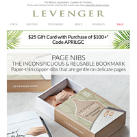 A Levenger Favorite is Back + We Have a Gift for You.