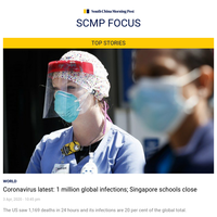 1 million global infections, two banks cancel dividends, Singapore shuts schools and more top news for you
