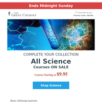 Last Chance to Get All Science Courses On Sale!