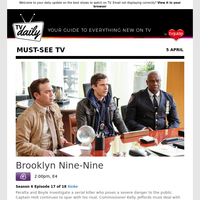 Don't miss: Brooklyn Nine-Nine at 2:00pm on E4