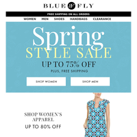 Bluefly - Spring Style Sale: Activewear, Shoes, Handbags & more