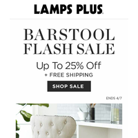 Barstool FLASH SALE! From Home Office to Happy Hour
