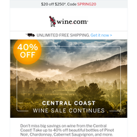 Central Coasts Wine Sale Continues