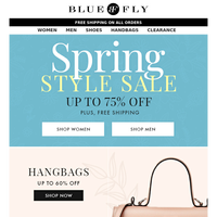 Bluefly - There's Still Time to Shop the Spring Style Sale!