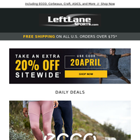 Save an Extra 20% - 3 Days Only