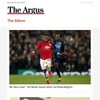 The Albion: 'No idea is bad' - but Barber would rather not follow Belgium