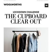 Lockdown challenge: Clear out your wardrobe.