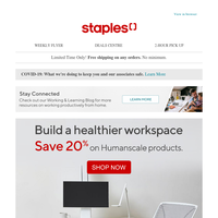 Healthy Workspace Tools by Humanscale