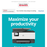 HP Printers... save over 30% & maximize your productivity