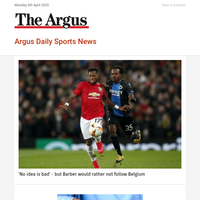 Argus Daily Sports News: 'No idea is bad' - but Barber would rather not follow Belgium