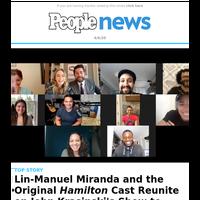 Lin-Manuel Miranda and the original Hamilton cast reunite on John Krasinski's show to surprise young fan