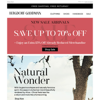 Fashion's New Free Spirit + Up To 70% Off