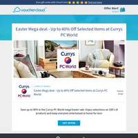 Up to 40% off at Currys PC World