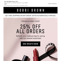 25% off our latest and greatest. Plus create your 3-piece makeup set.