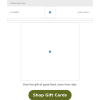 {NAME}, brighten their day and save 20% on gift cards, too.