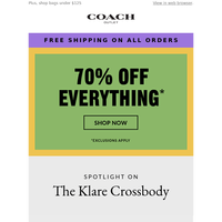 Shop The Klare Crossbody + Discover Today's Deal